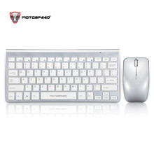 Motospeed G9800 2.4G Wireless Keyboard and Mouse Mini Multimedia Keyboard Mouse Combo Set Laptop Macbook Desktop PC TV Office motospeed g9000 2 4g wireless 78 key keyboard w film 1000dpi wireless mouse set back 2 x aaa