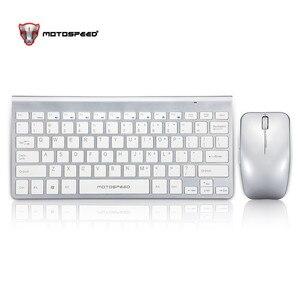 Image 2 - Motospeed G9800 2.4GWireless キーボードとマウスマルチメディアキーボードマウスコンボセットノートパソコンの Mac デスクトップ PC の TV オフィス