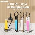 Remax fácil rc-024 ios cabo de carregamento 68mm carregamento rápido para iphone 5/se 6/6 mais 7/7 mais ios 10 para ipad portátil usb cabo