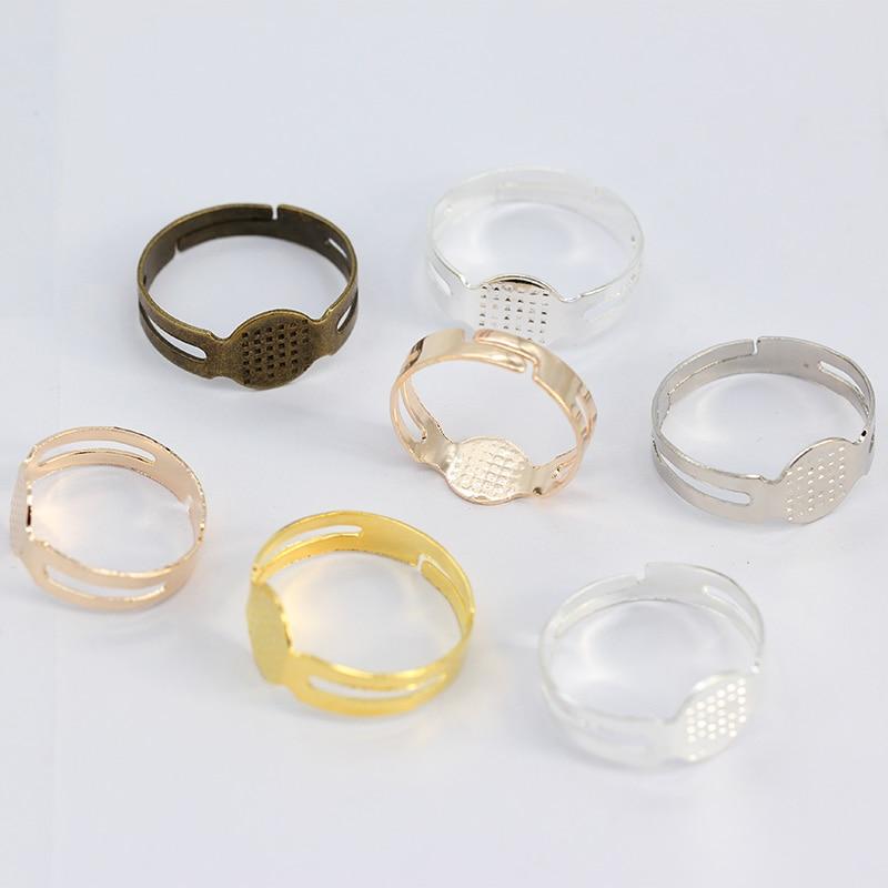 25 or 50 Black Acrylic Ring Blanks,14mm Childrens Kids Jewellery Making Findings
