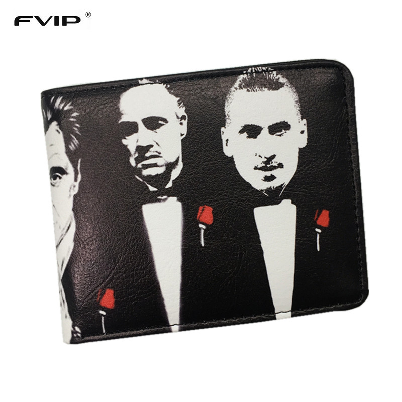 FVIP The Godfather Wallet Cool Men's Short Wallets With Credit Card Holder Dollar Price