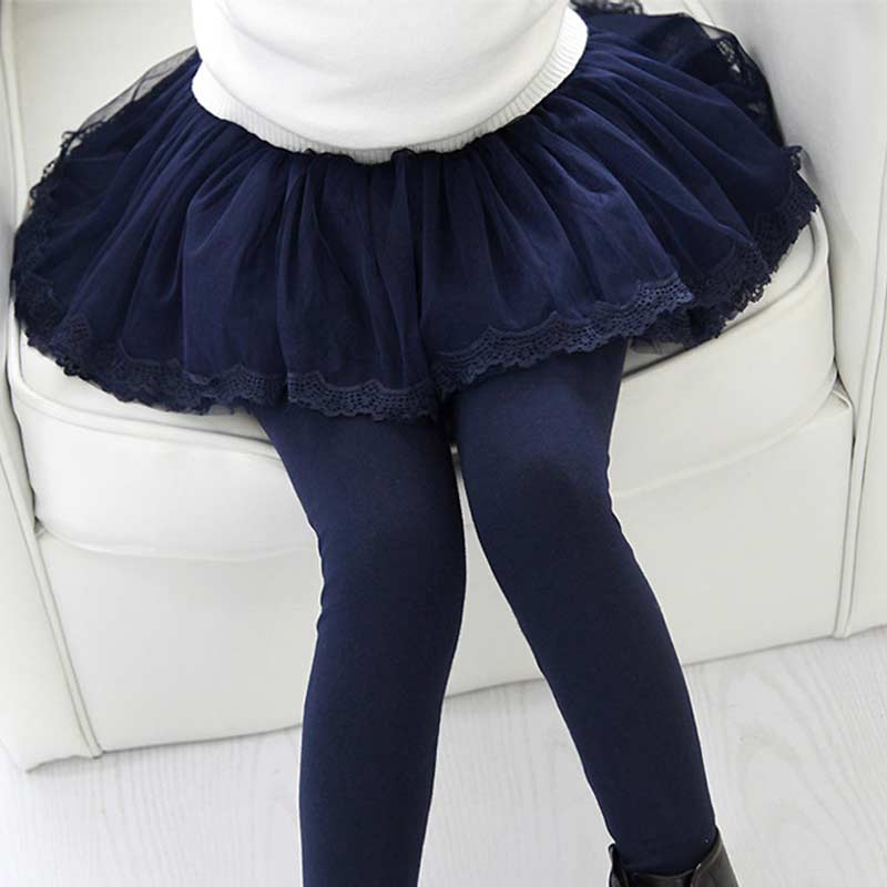 JOYHOPY Spring Autumn Girls Leggings Girls Skirt Pants Cake Skirt Girl Baby Pants Kids Girl Leggings