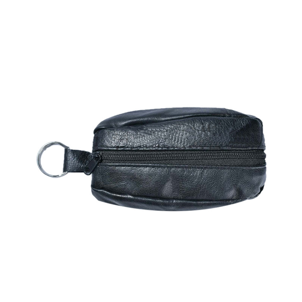 Coin Purse Mini Wallet Hanging Multi-Purpose Artificial-Leather Solid-Zipper Waterproof