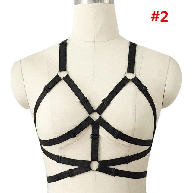 Hot Women's Bra Harness Body  Crop Top Summer Sexy Fashion bondage bra Gothic Punk Harajuku Harness Belt rave bra Free Shipping