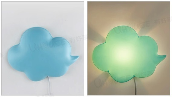 Light Green Cloud Lovely Creative Acrylic Led Wall Lamp For Kids Bedroom Baby Room Night Bedside E14 1 Bulb Included In Lamps From Lights