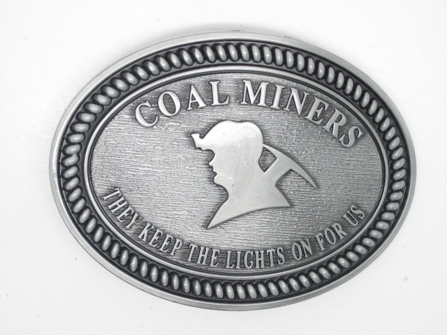 Coal Miners Belt Buckle They Keep The Lights On For Us