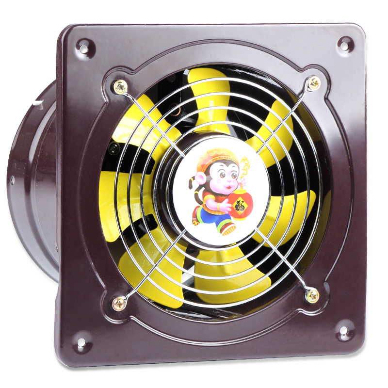 6 Inches Wall Kitchen Exhaust Fan Pipe Exhauster Lampblack Strong Ventilator Toilet Window Exhaust Fan 12 inches ventilator pipeline exhaust fan strong kitchen oil exhaust wall type square ventilator 300mm
