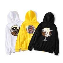 Hip-hop mens hoodie sweatshirt ghost Chinese print Harajuku streetwear 2019 autumn casual pullover cotton