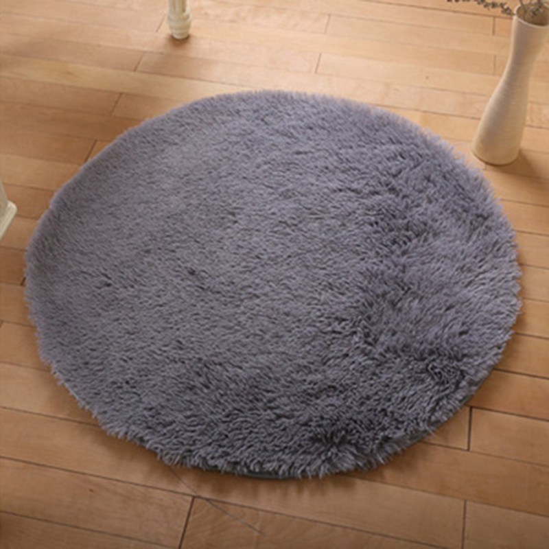 New Soft Shaggy Area Round  Living Room Bedroom Floor Mat 0.3m Multiple Colour
