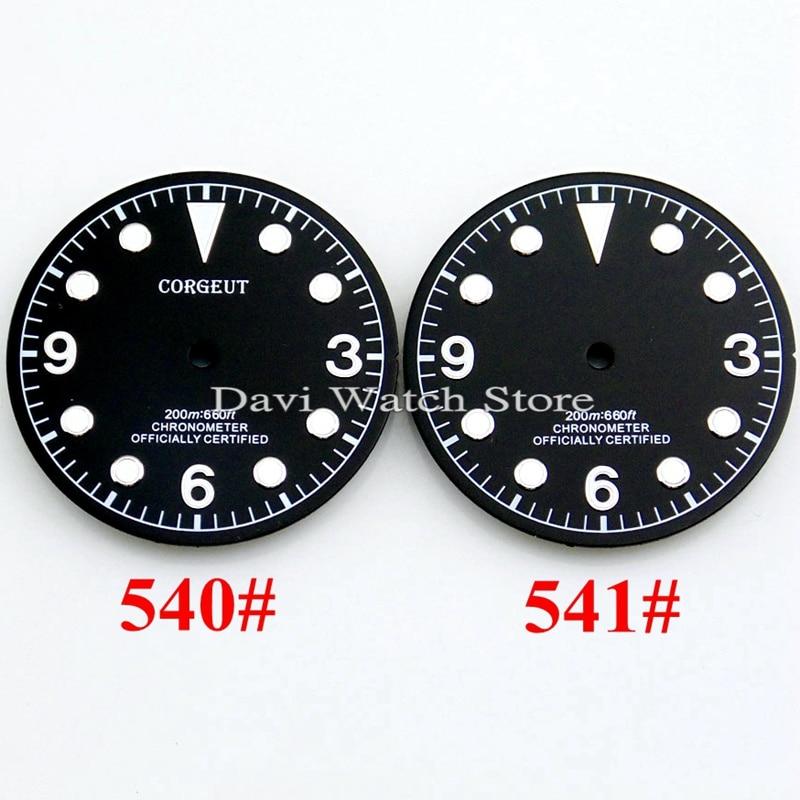Corgeut 30,5mm Schwarz Uhr Zifferblatt Fit Miyota 8205/8215 Uhren Zifferblätter Mingzhu Dg2813/3804 Uhr