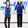 full sets 2017 Yuri!!! on Ice Cosplay Costumes Yuri Plisetsk Cosplay Clothes Victor Nikiforov Cosplay Costume free shipping new