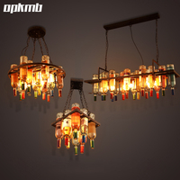 Loft Creative Wine Bottle Pendant Light Restaurant Bar Cafe Pendant Lamp Decorative Personality Bar Living Room