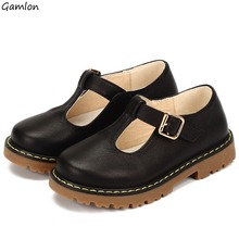 Gamlon New Arrival Casual Princess Shoes Genuine Leather T-strap for Girls