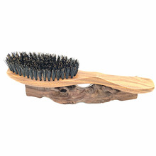 Natural Wild Boar Bristles Hair Brush Green Sandalwood Handle Brosse Cheveux Sanglier Pinceis Hair Care  Styling Tools L-938