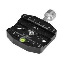 Andoer CL 70N アルミ合金 70 ミリメートルクイックリリース QR プレートクランプ 3/8 インチ w/1/4 インチアダプタ & バブルレベルアルカスイス Benro