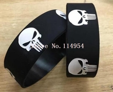 Punisher Skull Wristband Silicone Bracelets Fashion Unisex Jewelry