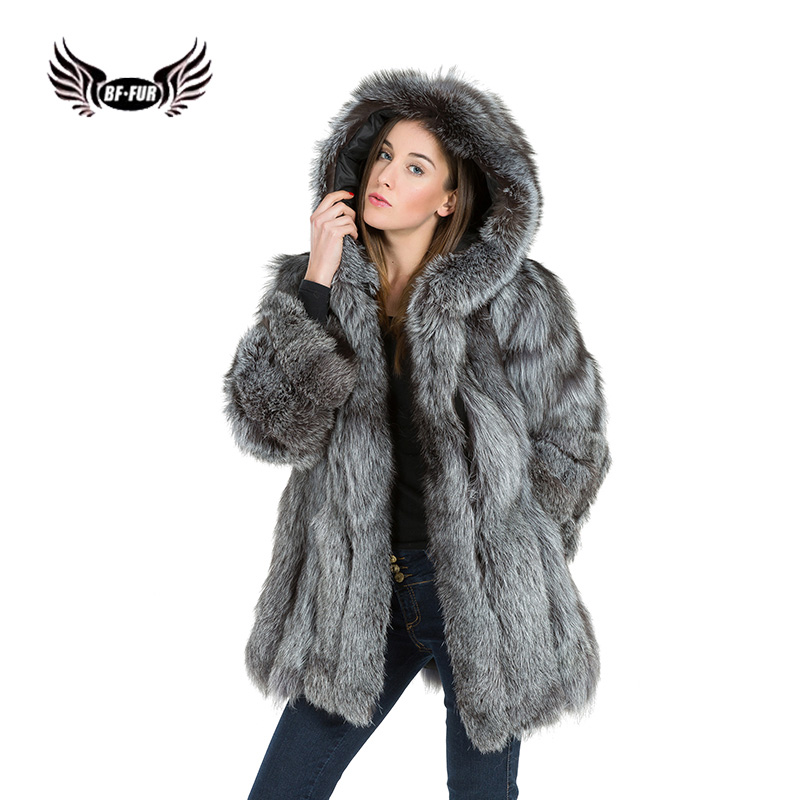 8e956dab48353 BFFUR Hooded Fluffy Fox Fur Coat With Real Fur Whole Skin Women Clothes  2018 Camouflage Top Thick Warm Fur Coat From Natural Fur-in Real Fur from  Women's ...