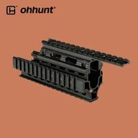 ohhunt Tactical Quad Picatinny Weaver Rail Scope Mounts AK System Handguard 2 Piece Construction for Riflescope AK47 74 AKs