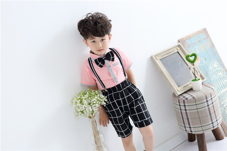 Children 39 s school uniform new style boys and girls short sleeved stage performance clothing costumes Two piece suit in School Uniforms from Novelty amp Special Use