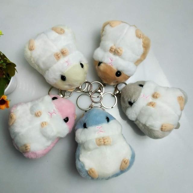 Mulheres De Pele Pompom Keychain Hamster Fofo Chaveiro Para Carros Bugigangas Carro chaveiros Chaveiro Faux Pele De Coelho Pom Pom chaveiros