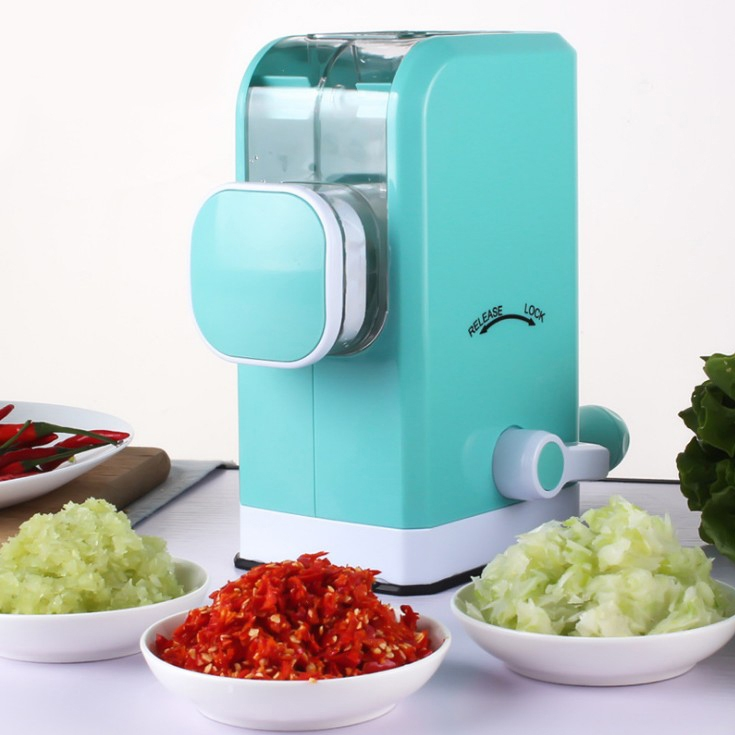 Machine rotative manuelle de hachoir à viande de qualité alimentaire en acier inoxydable lame de haute qualité hachoir à viande pour outil de cuisine