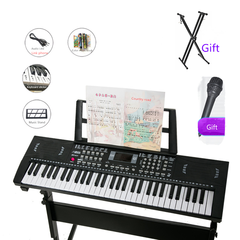 2019 meilleure vente octave bébé 61 clés clavier pour enfants 84 cm musique jouet piano BD-613 en gros enfant