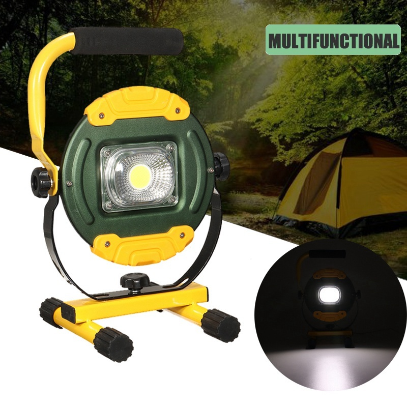 30W USB COB LED Floodlight Rechargeable LED Flood Spot Light Portable Outdoor Camping Lights Lighting Emergency Lamp