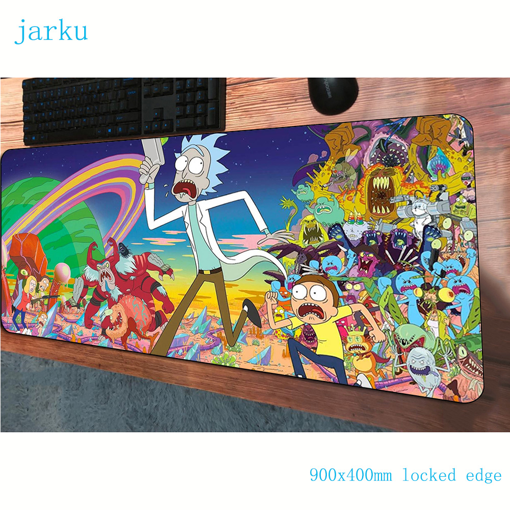 Rick And Morty Mouse Pad 900x400mm Mousepads Colourful Gaming Mousepad Gamer Gorgeous Personalized Mouse Pads Keyboard Pc Pad