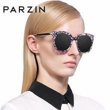 PARZIN High Quality Luxury 2016 Women Colorful Floral Eyeglasses Brand Designer Vintage Steampunk Sunglasses 9732