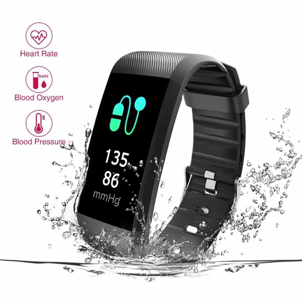 Tezer Fitness Tracker Sang Pression Smart Bracelet Moniteur de Fréquence Cardiaque Moniteur D'oxygène Dans Le Sang IP67 Fitness Tracker pour Andriod IOS