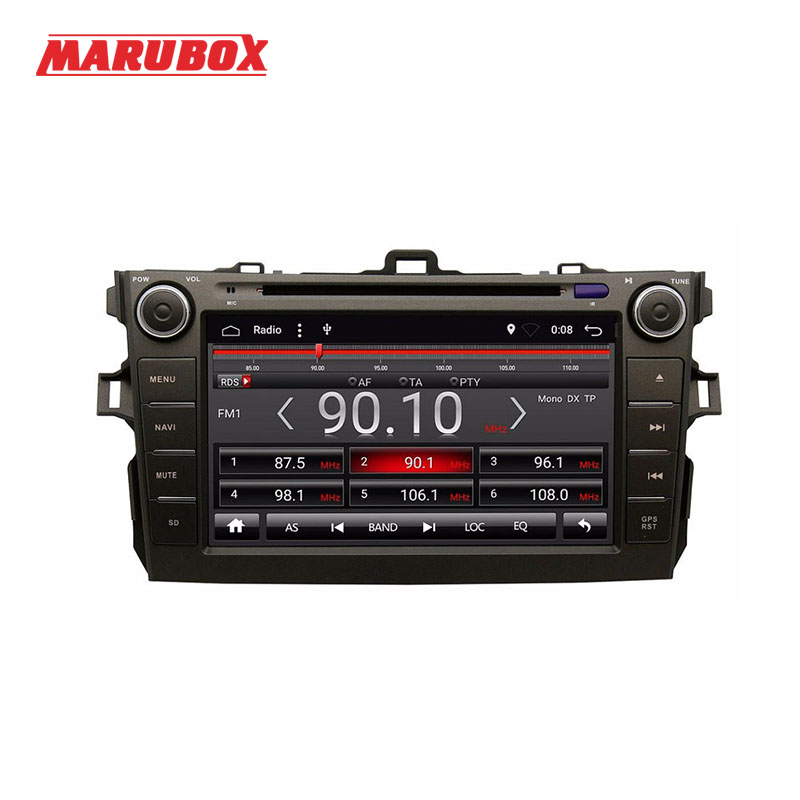 MARUBOX Double Din Android 6.1 For Toyota Corolla 2007-2011 GPS Navi DVD Car Stereo Radio Multimedia Player Head Unit 8A105R16
