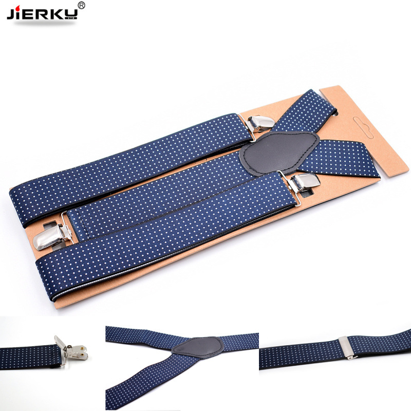 Man Suspenders Fashion Braces 3 Clips Elastic Strap Adult Casual Suspensorio Father/Husband's Gift