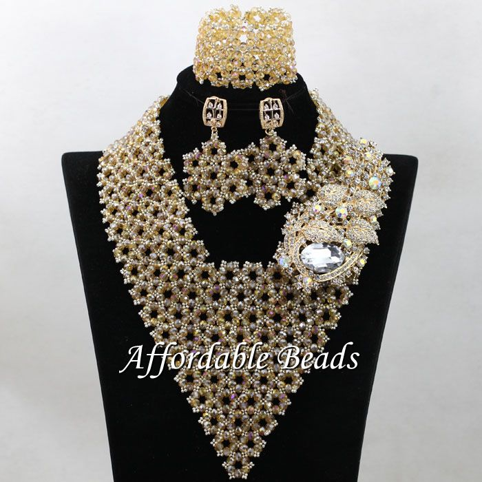 Champagne Nigeria Beads Best Selling African Wedding Set New ...