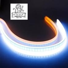 2 stuks 60cm Auto Lampen Voor Auto DRL Led dagrijverlichting Auto Styling Richtingaanwijzer Gids Strip Accessoires koplamp Montage