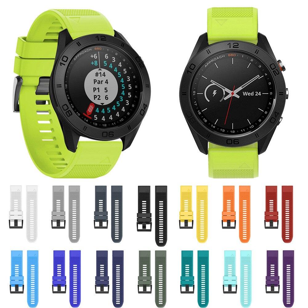 Hohe Qualität Uhrenarmbänder 22 MM Weichen Silikonband Ersatz Uhrenarmband Für Garmin Approach S60 Smartwatch Gurtbänder Armband