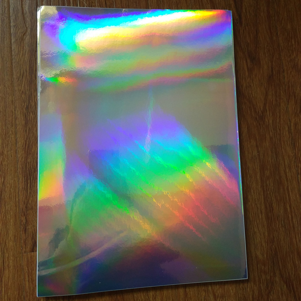 30 Sheets A4 self adhesive Plain holographic PP Film with sticker can print Label logo 210mm