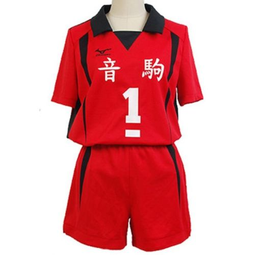 Haikyuu! Nekoma Costume High School Uniform Kenma Kozume Jersey NO.1 and NO. 5 Uniform Suit Cosplay Costume Halloween Carnival