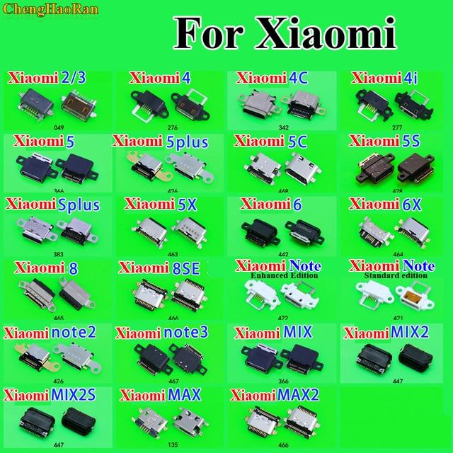 Peças de reparo chenghaoran micro usb tomada de carregamento para xiaomi 2 3 4 4c 4i 5 plus 5c 5S plus 5x6x8 se nota 2/3 mix 2 2 s max 2