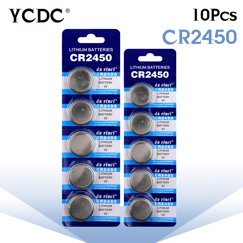 3.28 Big Promotion 10x 3V Lithium Li-ion Watch CoCells Button Battery CR2450 DL2450 BR2450 LM2450 KCR5029 Piles Bouton