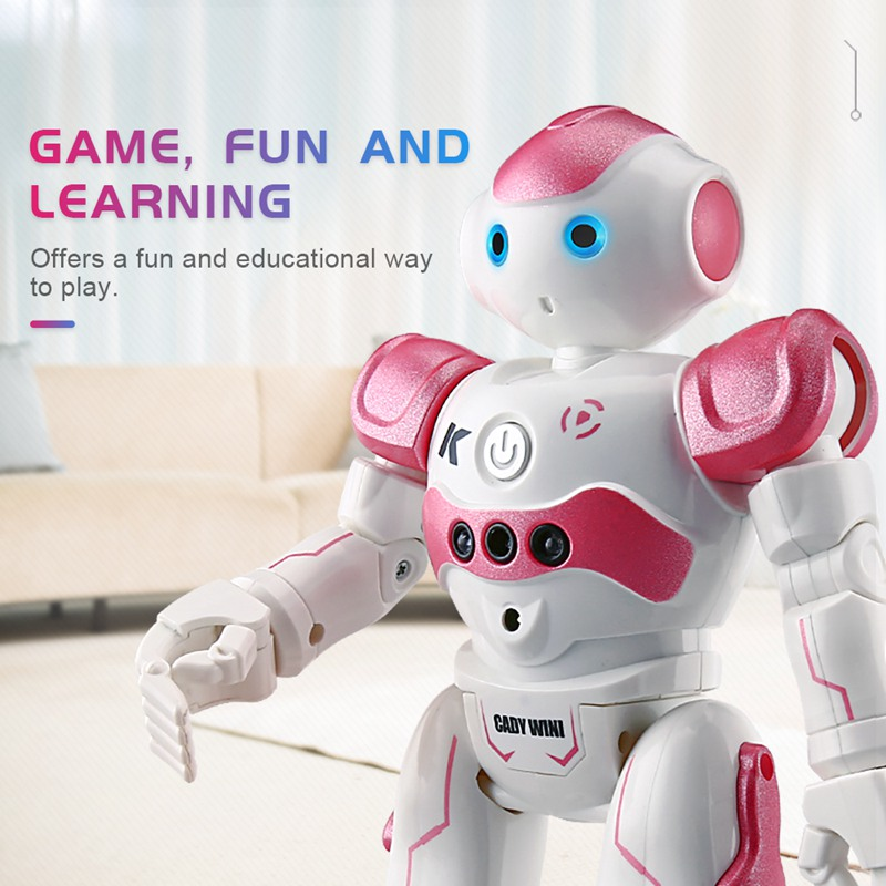 Rc Robot Dancing Gesture Remote Control Robot Toys For Children Kids Christmas Gift Birthday Present  Usb Charging Jjrc R2 Model dayan gem vi cube speed puzzle magic cubes educational game toys gift for children kids grownups