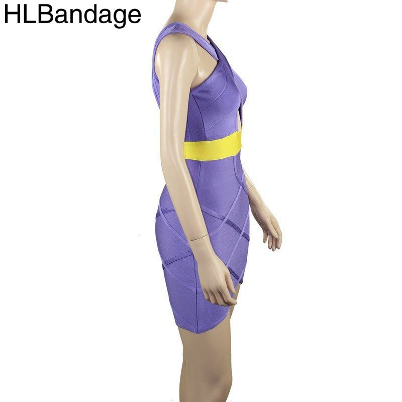 Keyhole Backless Bandage Dress Celebrity 2015 Sexy Bodycon Cocktail And Party  Dresses Purple Back Lilac And Gold-in Dresses from Women s Clothing on ... 67866ccf6eec