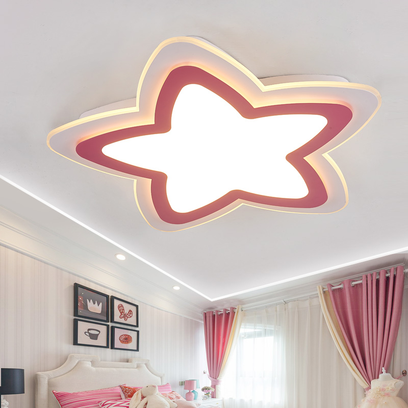 Acrylic Star LED Ceiling Light Decorative Kids Bedroom