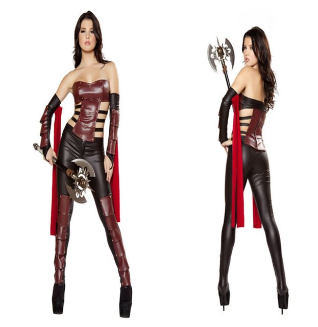 greek female cosplay costume warrior dress halloween leather women soldier suit performance dresses girl fighter clothing - Soldier Girl Halloween Costume