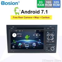 2 din radio android 7.1 for Audi A4 2003 2011 autoradio 2din Car DVD Player GPS Navigation Wifi Map