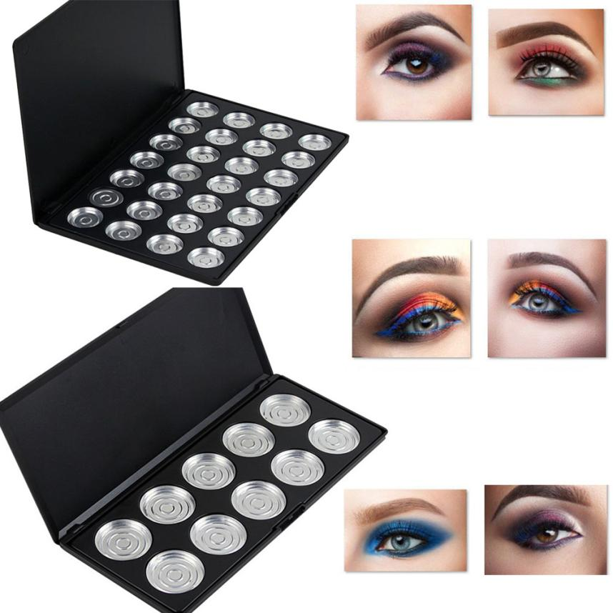 NEW10/28 Slots Pans Empty Eye Shadow Eyeshadow Firm Palette Case Makeup Tool
