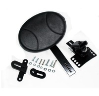 NEW Black Adjustable Plug In Driver Rider Backrest For Harley Road Street Electra Glide