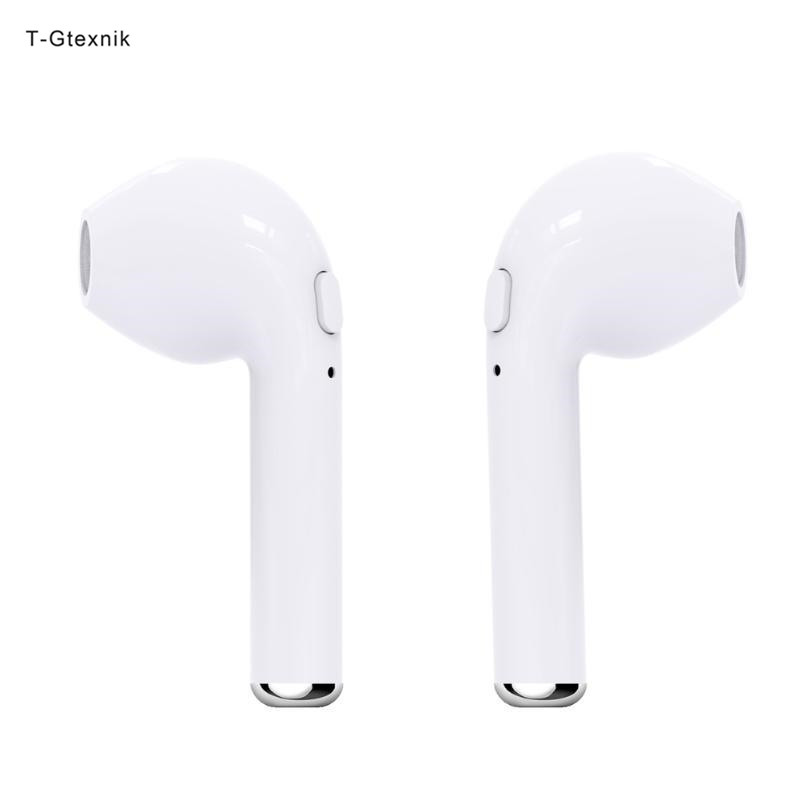 35084c4aed3 T-Gtexnik Earphones Hbq I7 Wireless Bluetooth Earphone In-Ear Tws 1 Pair  Mini Earbuds Bluetooth V4.2 Stereo Headset For Iphone