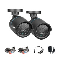 SANNCE 2pcs AHD 720P HD 1 0MP High Resolution CCTV Security Cameras H 264 Waterproof Indoor