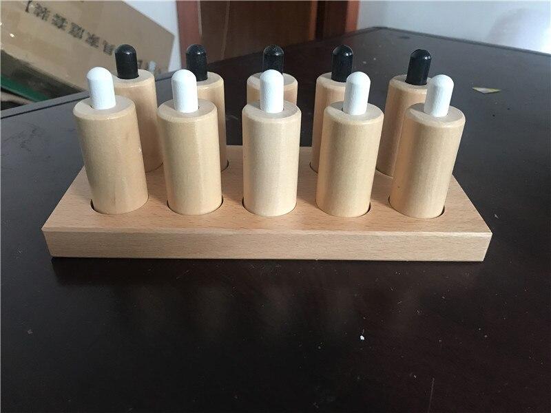 Nouveau jouet en bois pour bébé Montessori cylindres de pression sensoriels éducation de la petite enfance jouets pour enfants d'âge préscolaire cadeaux pour bébés