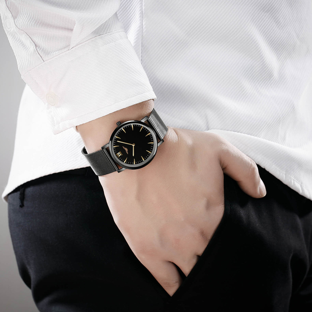 Mens GUANQIN Quartz Stainless Steel Watches